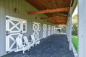 Empire Stables of Putnam barn porch overlooking the valley